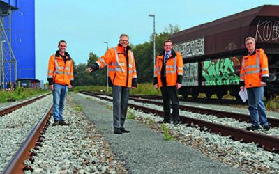 Neue Gleise für die Hafenbahn