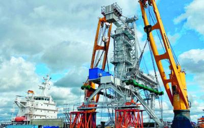 260 Tonnen schwere Anlage verschifft