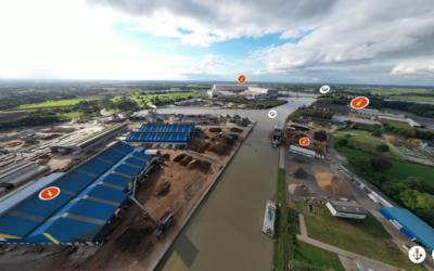 Spektakuläre Aussichten: Seaports of Niedersachsen glänzt mit einer neuen Homepage inkl. 360°-Tour